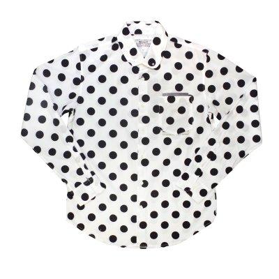 画像1: PEEL&LIFT        polkadot pinned collar shirt ドットプリントシャツ