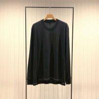 Khéiki       Long Sleeve Combination Cut and Sew・Black