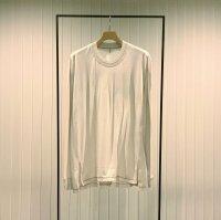Khéiki       Long Sleeve Combination Cut and Sew・Light Grey