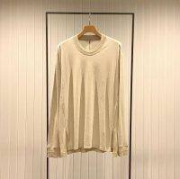 Khéiki       Long Sleeve Combination Cut and Sew・Greige