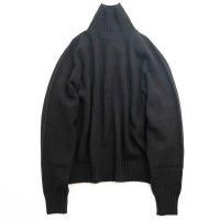 stein       EX FINE LAMBS LOOSE HIGH NECK KNIT LS・BLACK