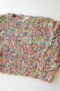 WATARU TOMINAGA       hand knitted multicolored sweater