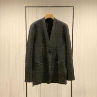 Khéiki       Collarless Knit Jacket